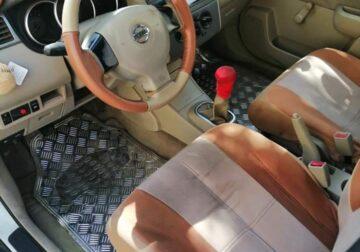للبيع سيارة نيسان تيدا ٢٠٠٦ قير عادي مفحوصة ومجدده